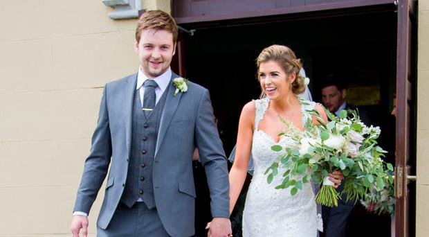 Rugby star Iain Henderson and bride Suzanne