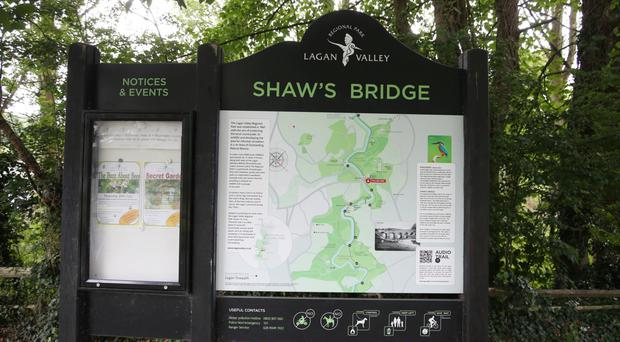 Police are appealing for information after a man's body was found yesterday in a wooded area near Shaw's Bridge on the River Lagan in Belfast