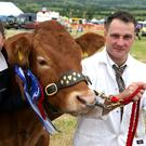 Gail Ritchie from Bank of Ireland with Stephen Crawford, reserve overall champion
