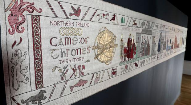 The Game of Thrones tapestry at the Ulster Museum in Belfast (Press Eye/PA)