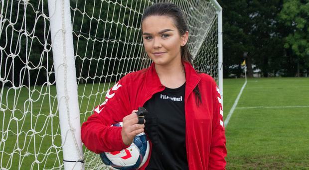 Megan Power at the Glenavon v Magherafelt Sky Blues u-13 Hughes Insurance Foyle Cup clash at St Columb's Park on Monday