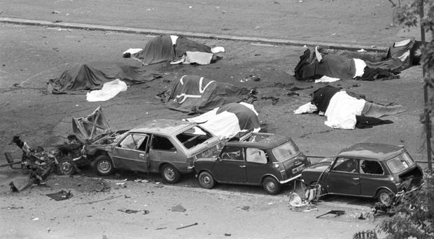 The aftermath of the 1982 Hyde Park bombing
