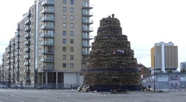 Before the bonfire on Sandy Row