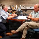 Jim Allister interviews Stephen Nolan yesterday on Radio Ulster