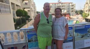 Pat Ramsey with his daughter Aine in Turkey