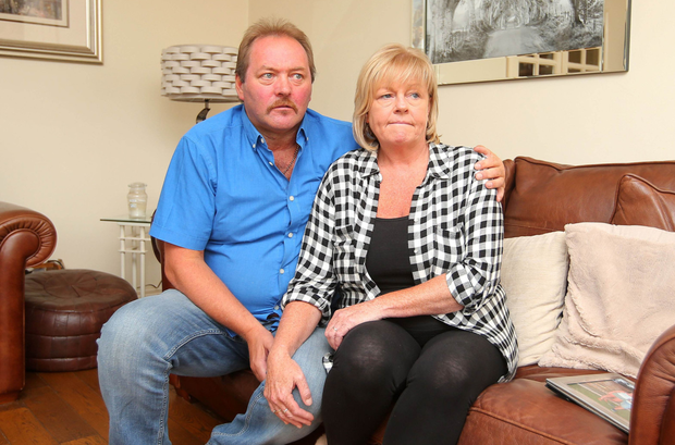 Rodney and Karen McIlwaine await news of their missing son Dean at home in Newtownabbey
