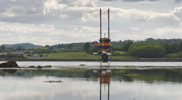 The Seagen tidal turbine in Strangford Lough, as cross-border studies into bio and marine-based power are announced