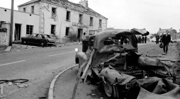 The aftermath of the 1972 Claudy attack