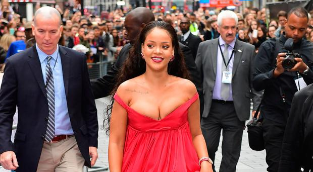 Rihanna attends the European premiere of Valerian And The City Of A Thousand Planets at Cineworld in London