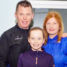 Tragic: Paul Clements with his wife Margaret and daughter Hannah