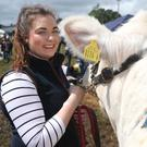 Emma McElhill from Castlederg at the Clogher Valley Show