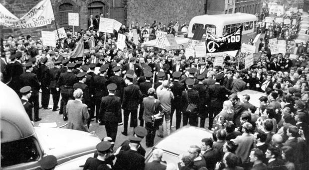 A 1968 civil rights march in Londonderry