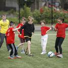 Children from across the religious divide take part in the Belfast Interface Games