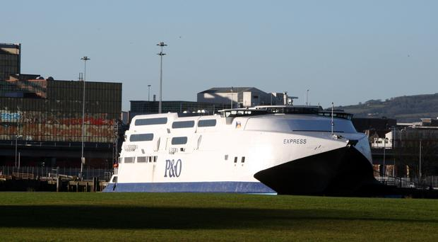 The number of cars taken on ferries has also increased on services between Britain and Ireland