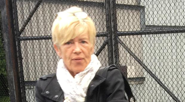 Janet Ochiltree outside court yesterday