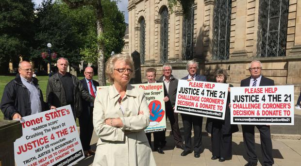 Julie Hambleton and other Birmingham pub bombings campaigners from the Justice4the21.