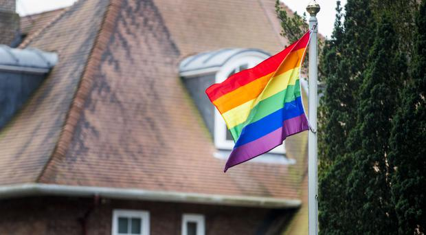 The rainbow flag flies at Stormont House in Belfast to mark the city's Pride festival