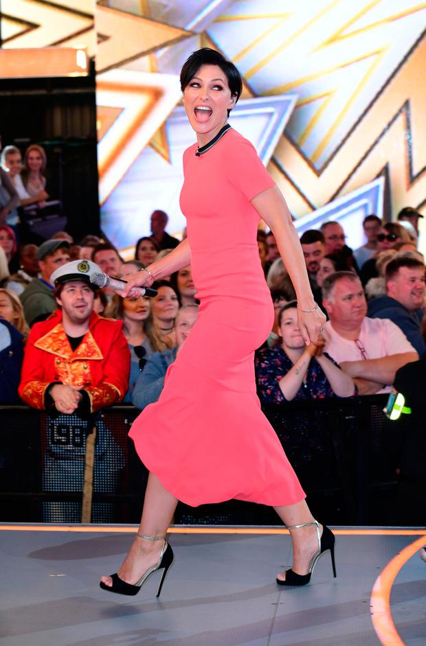 Emma Willis presenting Celebrity Big Brother