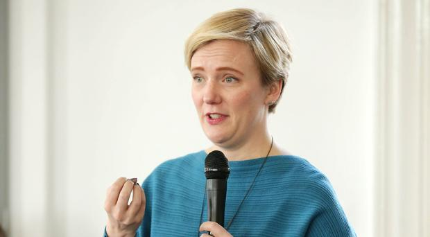 Labour MP Stella Creasy speaks at a debate as part of the West Belfast Festival