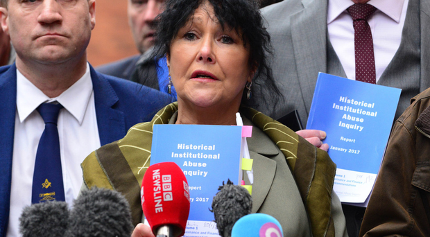 Abuse survivors speaking following the publication of the report in January