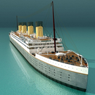 The Titanic model being built in China