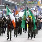 The parade through the Kilwilkie Estate in Lurgan