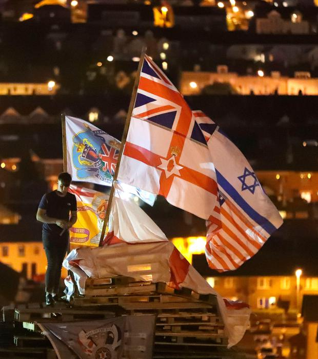 The bonfire on the Bogside