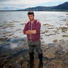Darren Cunningham, who runs Killowen Shellfish, at Carlingford Lough