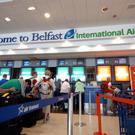 Belfast International Airport has seen a rise in passengers from the south