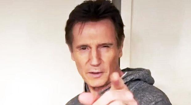 Liam Neeson helps launch his sons clothes range
