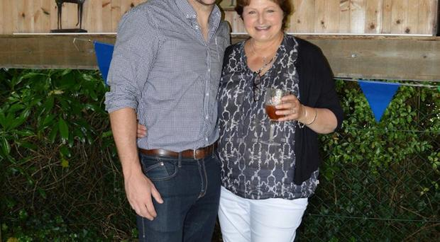 Mark Roberts with mum Lynne