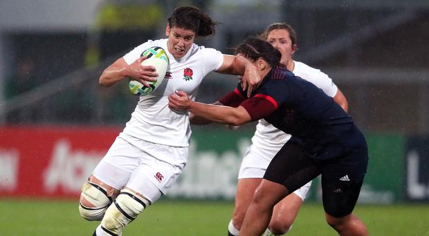 England captain Sarah Hunter will be hoping for glory in the Women's Rugby World Cup Final at the Kingspan Stadium in Belfast