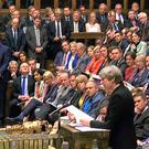Prime Minister Theresa May addresses the Commons