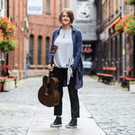 Singer songwriter Karine Polwart at the launch of the Belfast International Arts Festival