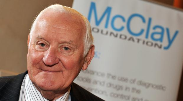 Sir Allen McClay was knighted for his services to business and charity and his McClay Trust supported cancer research