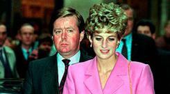 Ken Wharfe with Princess Diana