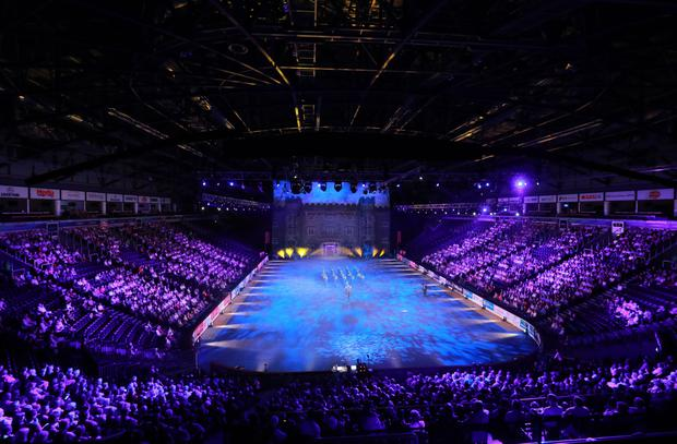 Lume de Biquera perform at the Belfast Tattoo in the SSE Arena last night