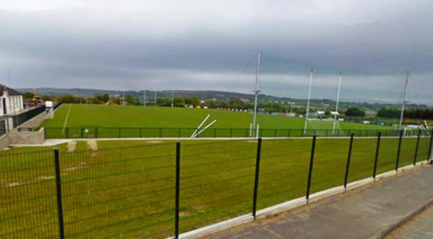 The Slaughtmanus GAA club ground where the player was taken ill