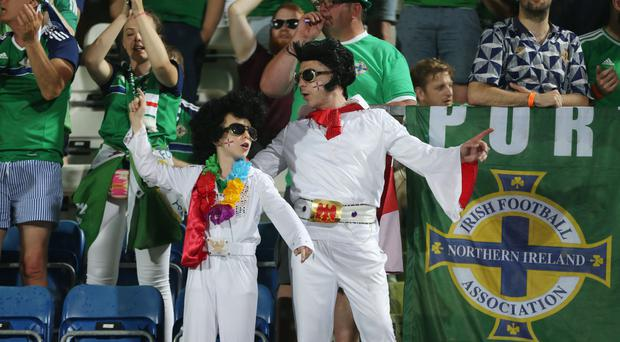 Northern Ireland fans during Friday night's World Cup qualifier at the San Marino Stadium in Serravalle