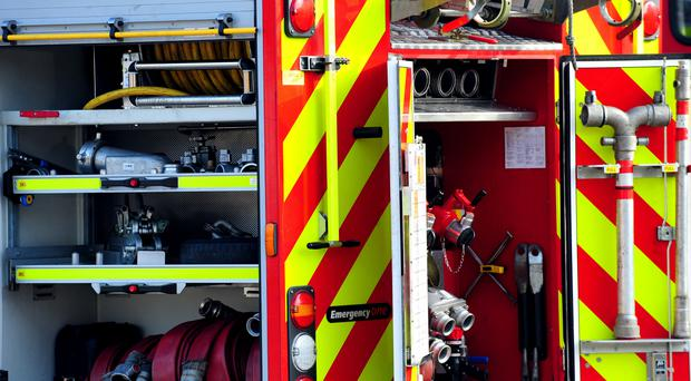 Firefighters were called to tackle the blaze