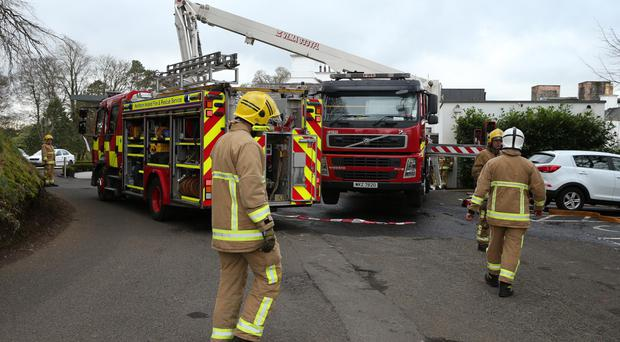 The Northern Ireland Fire and Rescue Service in a call-out operation