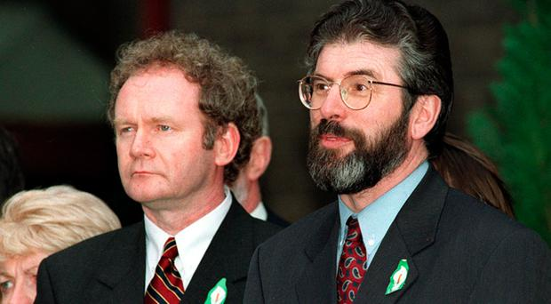 Gerry Adams and Martin McGuinness in 1998