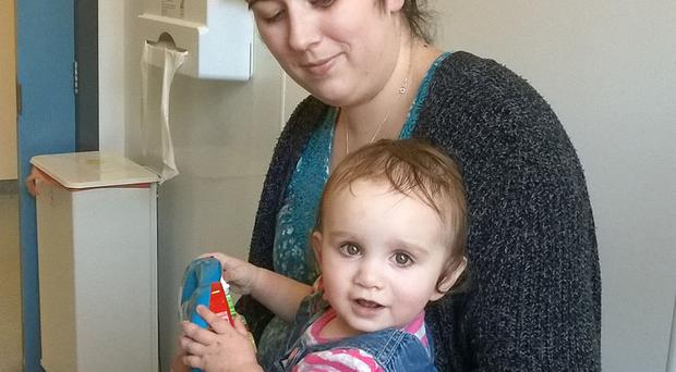 Karen Carlin, from Londonderry, with her daughter Caoilfhionn
