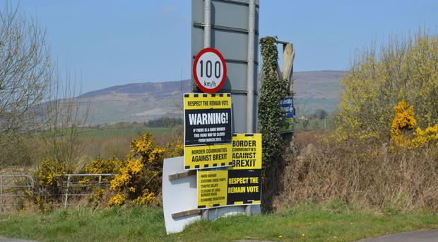 The Irish border between Londonderry and Donegal