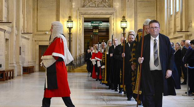 The judicial procession at the opening of the new legal year