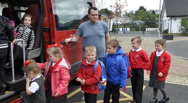 Caretaker Colin Johnston, who has had to double up and drive a minibus in order to get children home