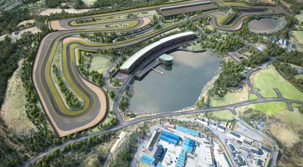 An artist's impression of what the new Lake Torrent racetrack development in Coalisland could look like
