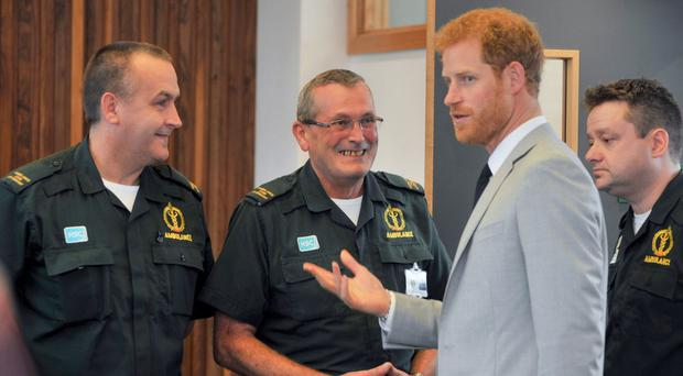 Prince Harry opens the new NI Ambulance Service station