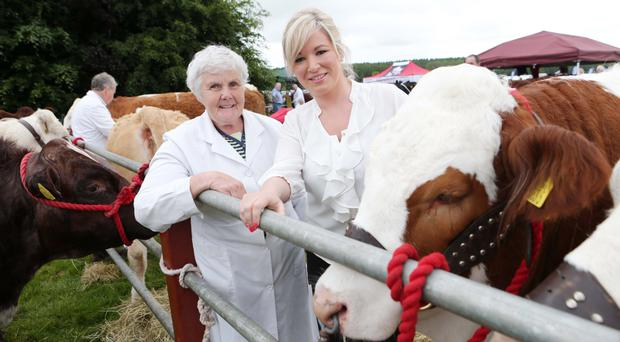 Thelma Gorman with then Agriculture Minister Michelle O'Neill at 2014 Armagh Show