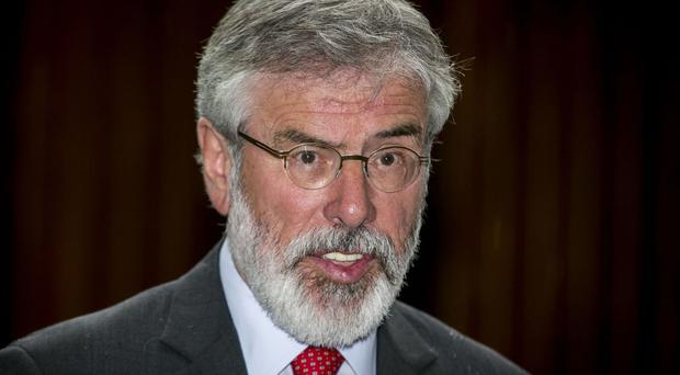 Gerry Adams was speaking at the Irish Labour Awards in New York